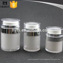 15ml 30ml 50ml esvaziam o frasco acrílico da imprensa da forma redonda para o cosmético com tampão transparente