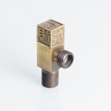 Chrome Plated Antique Carved Square Toilet Angle Valve Square With Filter