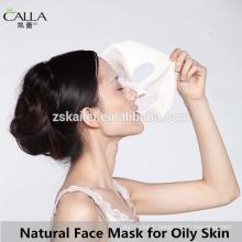 Masque facial naturel de correction de feuille de masque de boue pour la peau grasse
