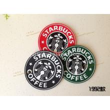 Promotional Starbucks PVC Coffee Coasters