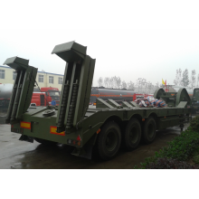 Military tank transportation low bed trailer
