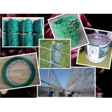 Carrete que empaqueta el alambre de púas con la manija de la suspensión / el carrete o la suspensión de alambre de púas de la fábrica