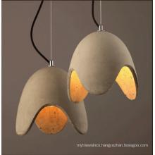 E27 Egg shape concrete energy saving pendant lamp for loft