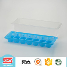 Guangdong personalized refrigerator grid container plastic ice tray for wholesale