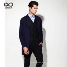 Lã Acrílico Manufactory Cor Pura Suit Homem Sweater Brasão
