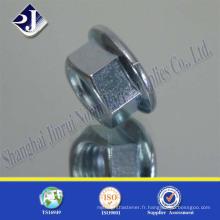 DIN6923 à base de bride zinguée avec prix d'usine