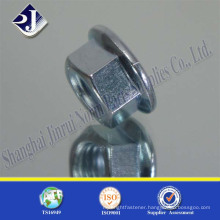 DIN6923 zinc plated flange type nut with factory price