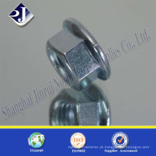 DIN6923 parafusado tipo flange zincado com preço de fábrica