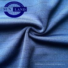 tissu de jersey élastique de polyester Spandex avec antistatique pour des vêtements de yoga