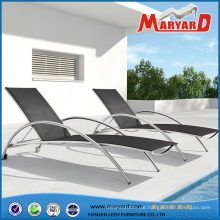 Moderne Terrasse Edelstahl Sonnenliege mit Mesh-Gewebe