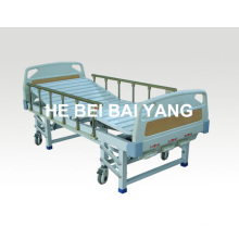 (A-43) Movable Three-Function Manual Hospital Bed with ABS Bed Head