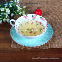 Big capacity China Porcelain coffee Cup And Saucer