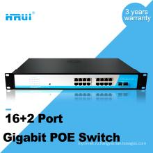 Конвертер средств PoE гигабита 2 комбинированных гигабитных порта с поддержкой PoE коммутатор 16 портов