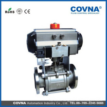 Vacuum stainless steel ball valve with pneumatic actuator