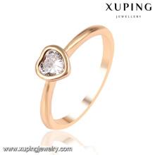 13953 Xuping design simples extravagante banhado a ouro anéis de casamento