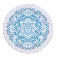 Lovin Summer Luxury Lotus Round Beach Towel