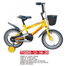 Vier Größen von Kindern Fahrrad