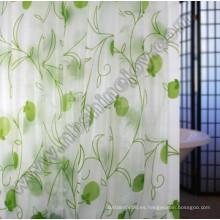 EVA impermeable cortina de ducha con ganchos