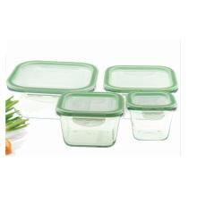 Caixa do recipiente do vidro do calor-Risistant do quadrado 0.3L