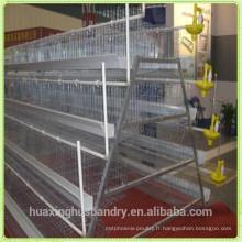 Cage de poulet à poulet à fourrage de la cage de batterie