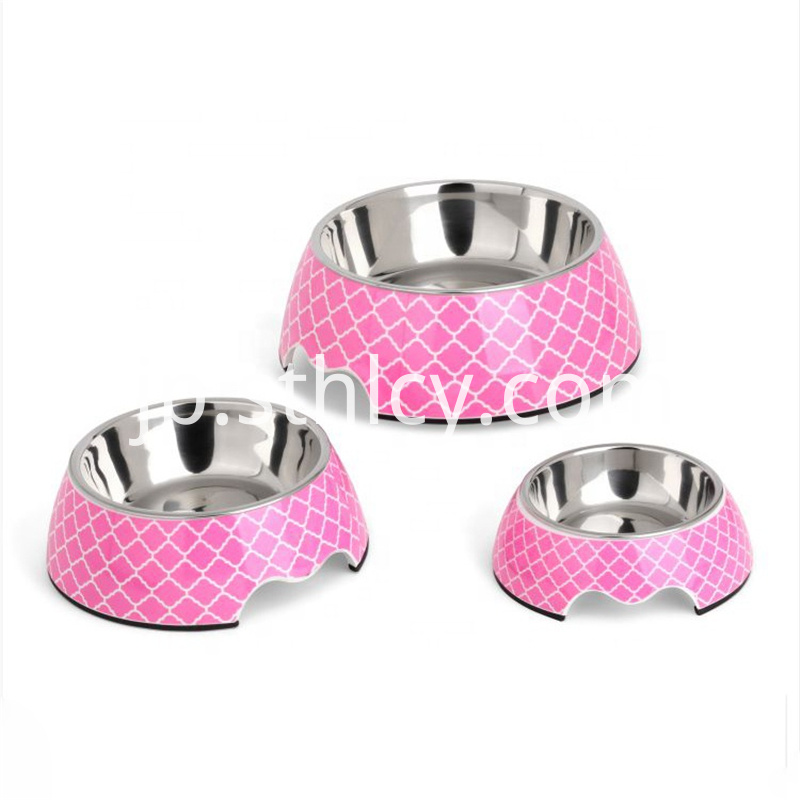 Wholesale-round-pet-bowl-stainless-steel-melamine