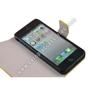 iPhone 5-Portemonnaie-Leder-Etui