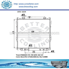 Radiator For Toyota Prado 95-98 KZN 1KZ AT OEM:16400-67140/16400-67121