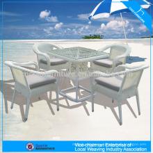 Высокая-конец открытый белый круглый плетеный журнальный столик набор