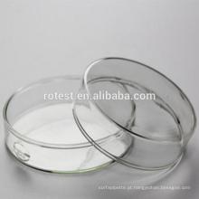 Prato de Petri do vidro de borosilicato dos produtos vidreiros de laboratório