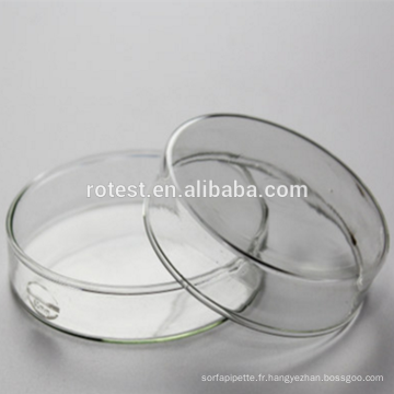 Boîte de Pétri en verre borosilicaté