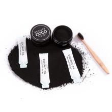 Briquete de coco em pó de carvão ativado para clarear os dentes
