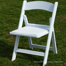 Wholesale White Padded Resin Folding Chair