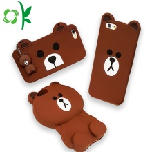 Brun Bear Design 3D Silikon Cell Phone Case