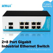 Managed Layer 2 Switch DIN-Schiene Gigabit 8 Port Medienkonverter industriellen Switch