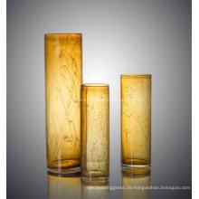 Bunte Zylinder Form Glas Blume Vase für Dekoration Home