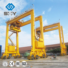 Double girder 50 ton Mobile container gantry crane price