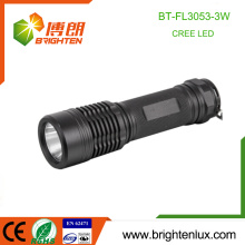 Factory Customized High Quality Pocket Camping Used Strong Light Aluminum America Cree Torch Light with 3*AAA battery