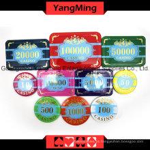 Jogo de fichas de alto nível corvo poker 760pcs (ym-scma002)