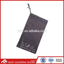 Customized durável microfibra lente pequena e óculos sacos de impressão digital