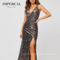 Plunge Neckline Engagement Design Classical Old Official Evening Dress Designs