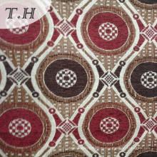 Красный и коричневый круговой Синеля Жаккардовые ткани для кресла и мебель