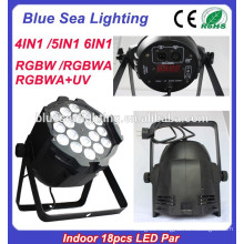 China Alibaba Indoor dmx 18x18w rgbaw uv led par light for sale