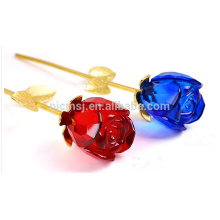 Best price superior quality crystal roses wedding gifts