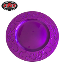 Purple European Style Plastic Charger Plate