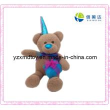 Plush Teddy Bear Toy with a Blue Cap