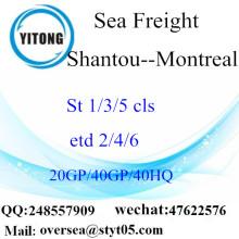 ميناء الشحن البحري شانتو إلى مونتريال