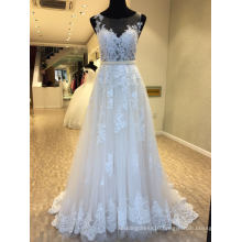 A Line Lace Evening Bridal Gown Wedding Dress