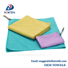 With custom logo and packaging fast drying sude microfiber sport towel