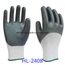13G Nylon Nitrile Half Coating Glove