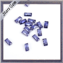 Various Color Rectangle Shape CZ Stone for Sale